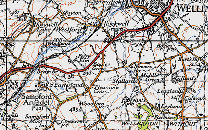 Old map of Bagley Green in 1946