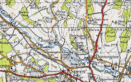 Old map of Bagnor in 1945