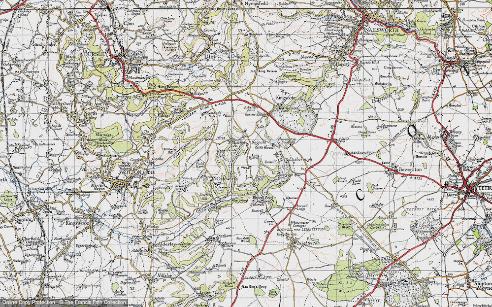 Old Map of Bagpath, 1946 in 1946