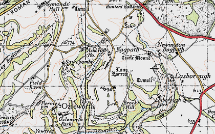 Old map of Bagpath in 1946