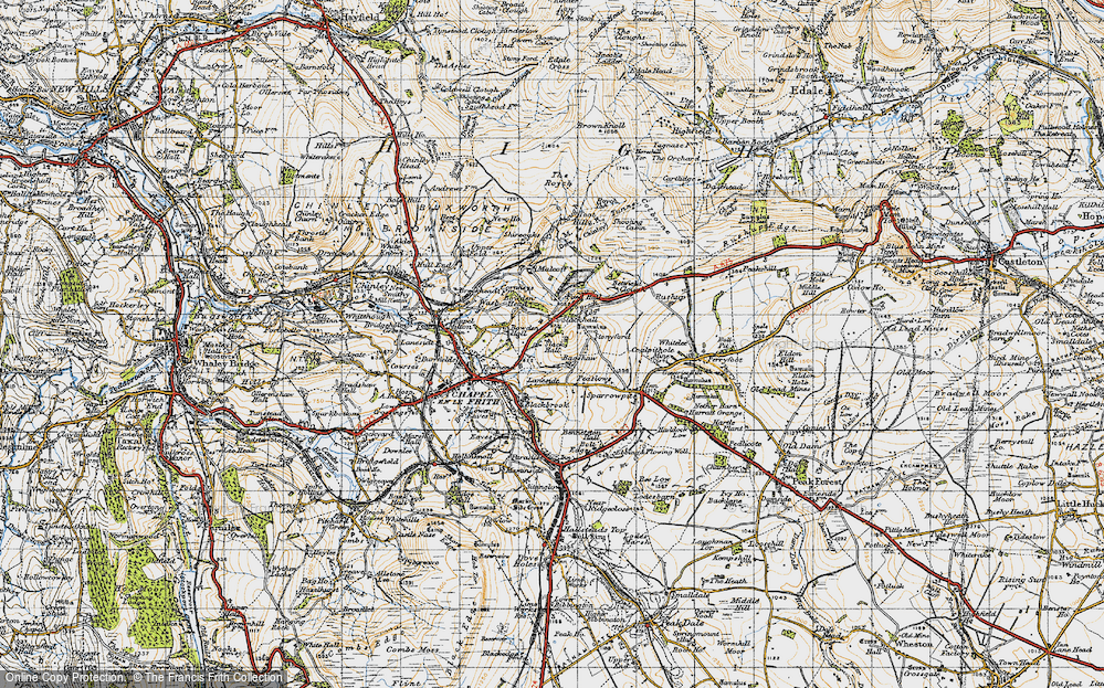 Old Map of Bagshaw, 1947 in 1947
