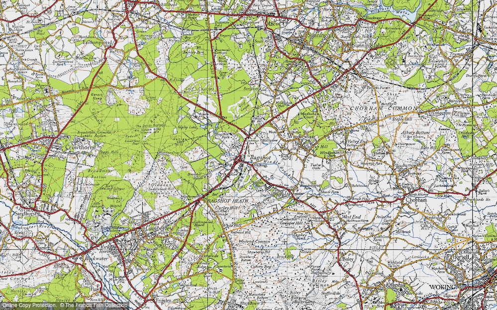 Old Map of Bagshot, 1940 in 1940