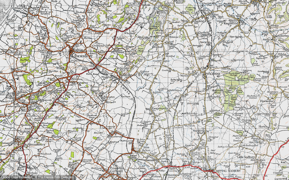 Old Map of Bagstone, 1946 in 1946