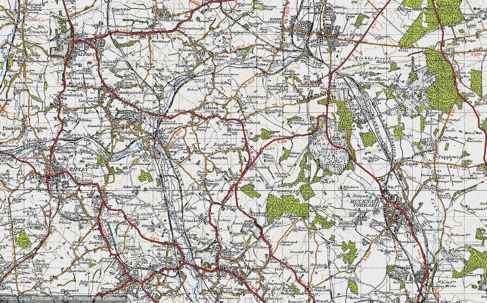 Old Map of Bagthorpe, 1946 in 1946