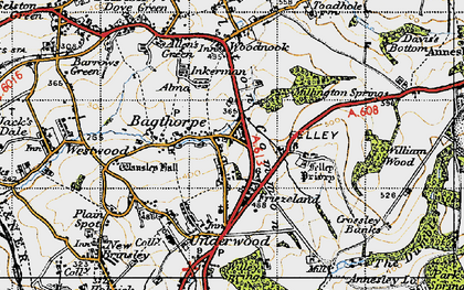 Old map of Bagthorpe in 1946