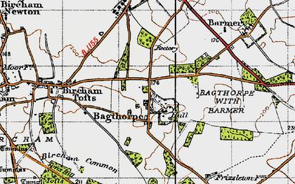 Old map of Bagthorpe in 1946