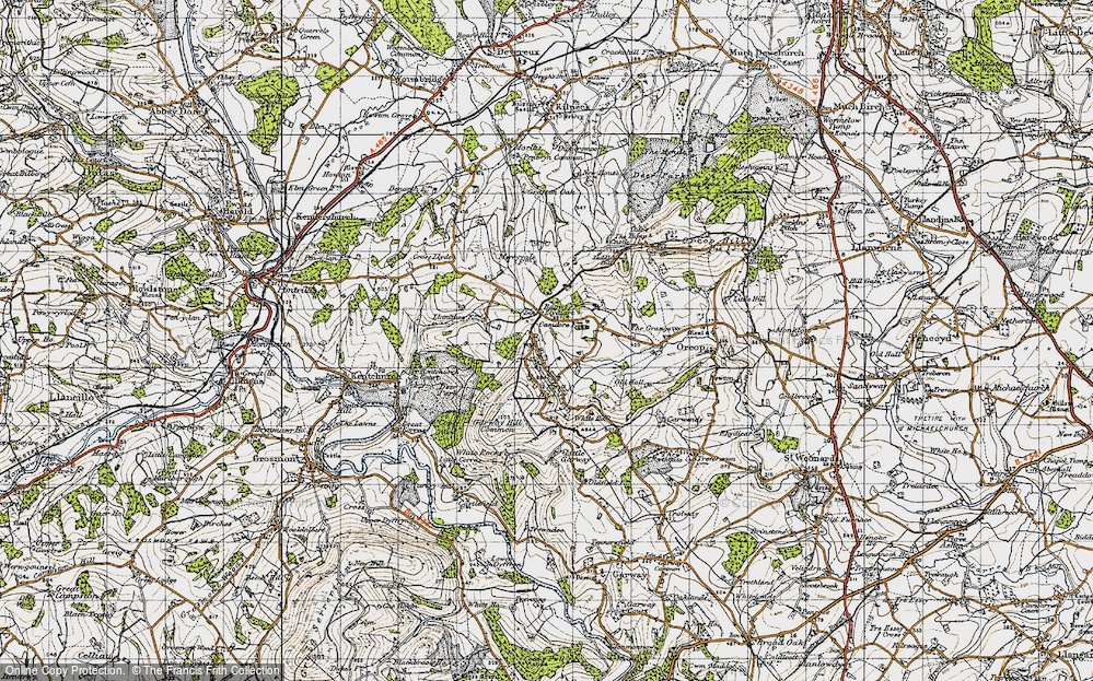 Old Map of Bagwyllydiart, 1947 in 1947