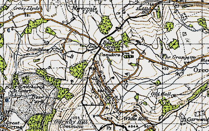 Old map of Bagwyllydiart in 1947