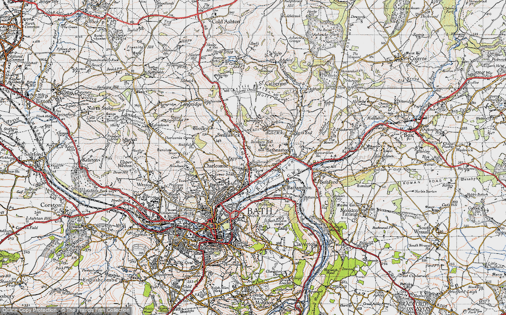 Old Map of Bailbrook, 1946 in 1946