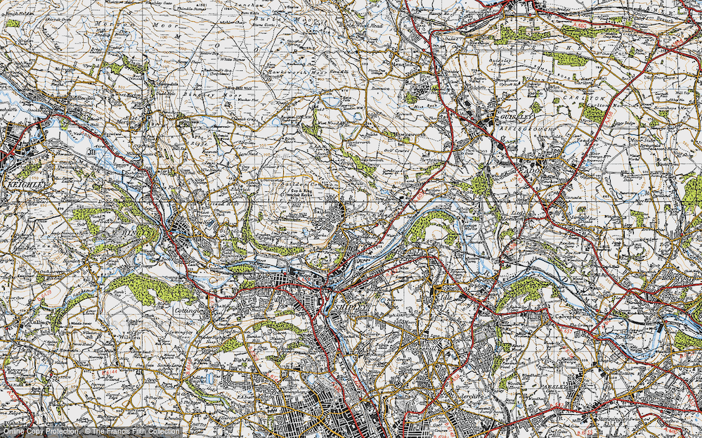Old Map of Baildon, 1947 in 1947
