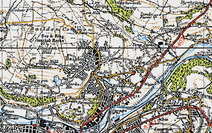 Old map of Baildon in 1947