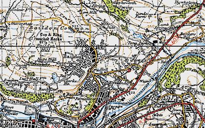 Old map of Baildon Moor in 1947