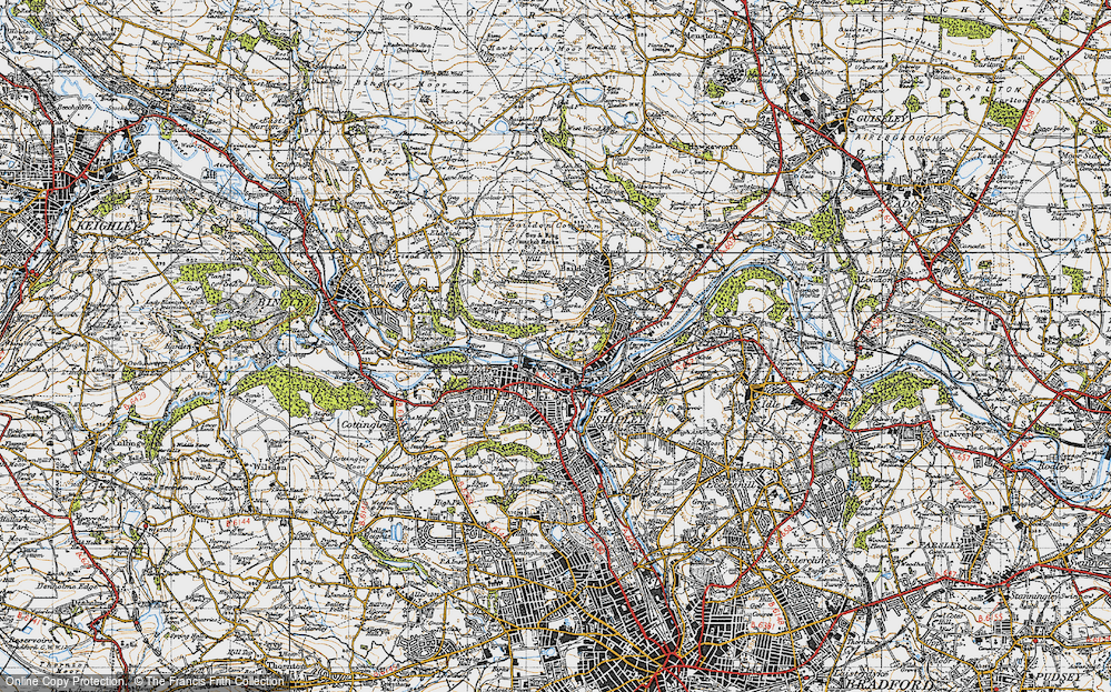 Old Map of Baildon Green, 1947 in 1947