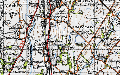Old map of Bailrigg in 1947