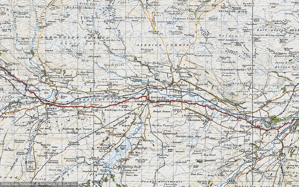 Old Map of Bainbridge, 1947 in 1947