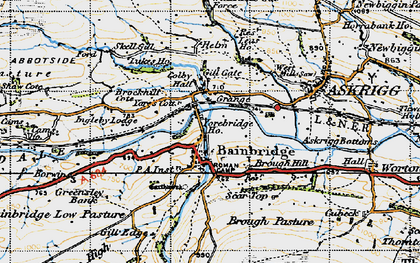 Old map of Yorebridge Ho in 1947