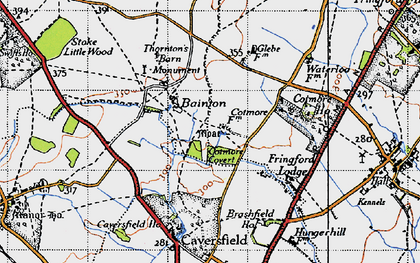 Old map of Bainton in 1946