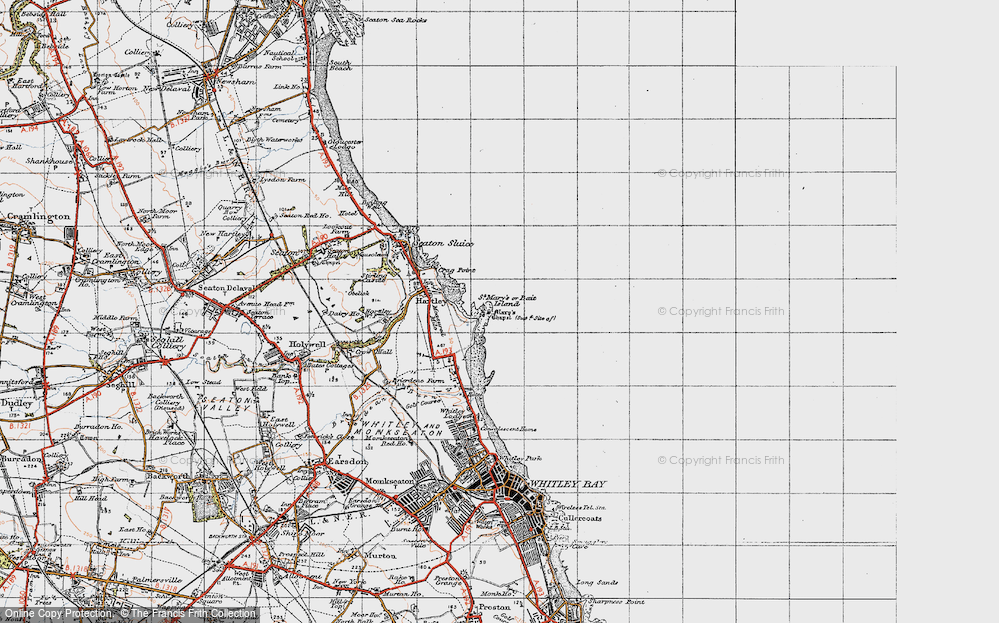Old Map of Bait Island, 1947 in 1947