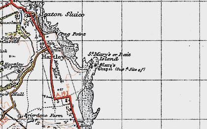 Old map of Bait Island in 1947