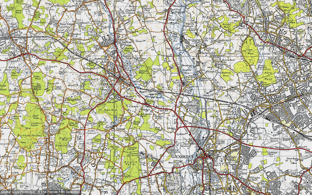 Old Map of Baker's Wood, 1945 in 1945