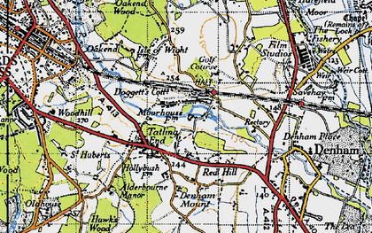 Old map of Baker's Wood in 1945