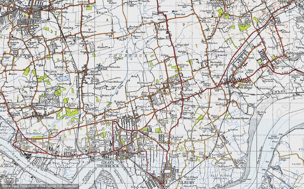 Old Map of Baker Street, 1946 in 1946