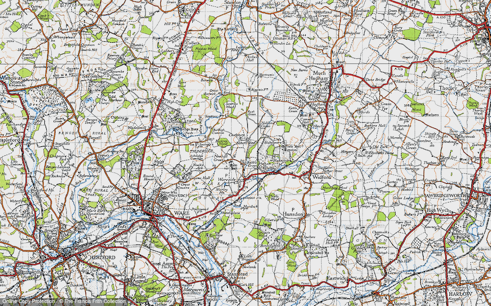 Old Map of Bakers End, 1946 in 1946