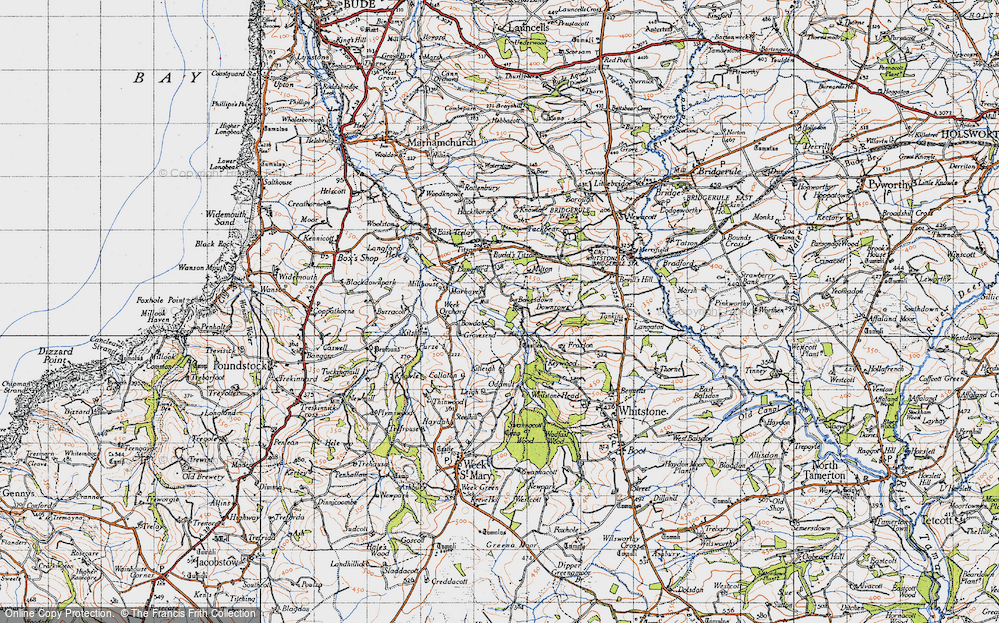 Old Map of Bakesdown, 1946 in 1946