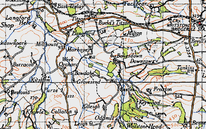 Old map of Bakesdown in 1946