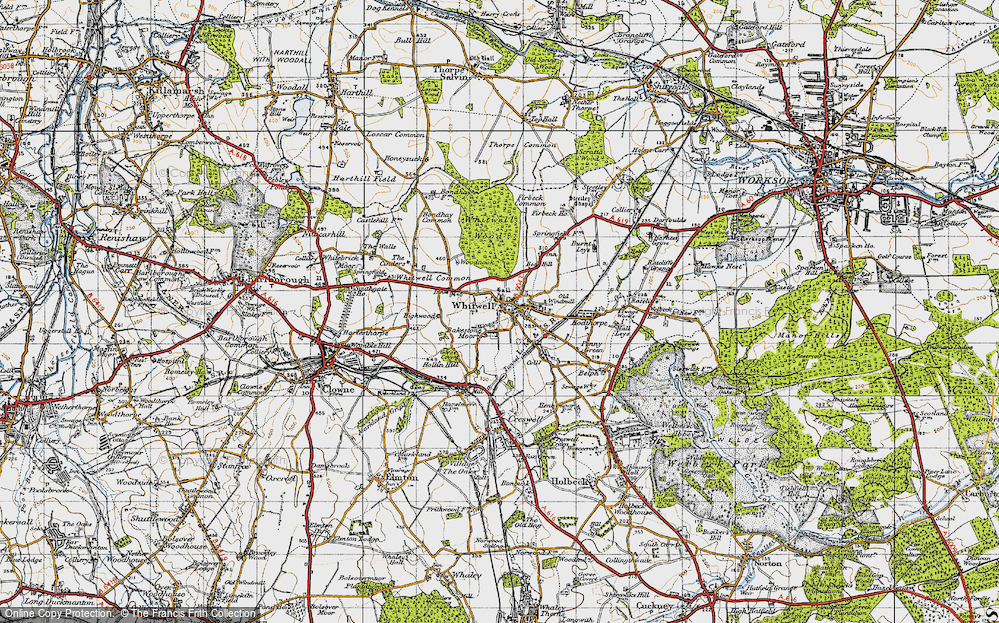Old Map of Bakestone Moor, 1947 in 1947