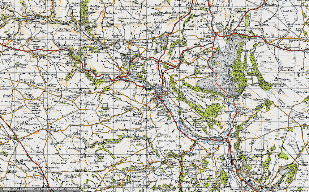 Old Map of Bakewell, 1947 in 1947