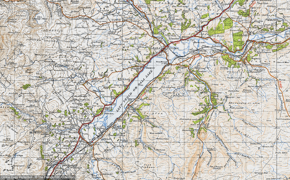 Old Map of Bala Lake Railway, 1947 in 1947