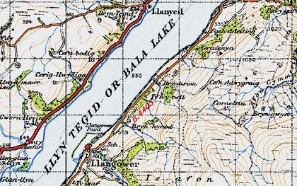 Old map of Bala Lake Railway in 1947