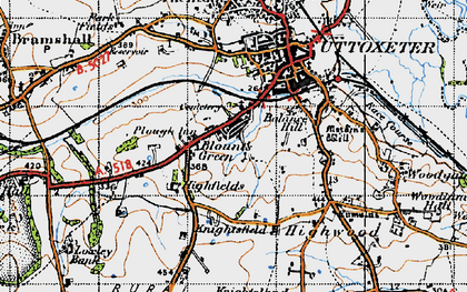 Old map of Balance Hill in 1946