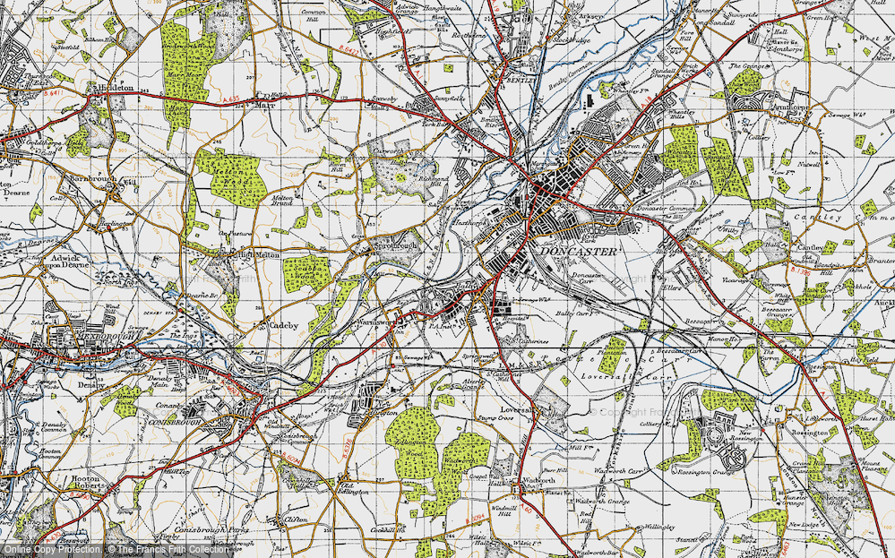 Old Map of Balby, 1947 in 1947
