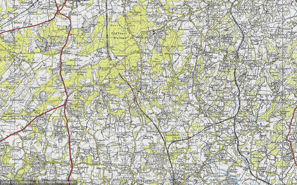Old Map of Balcombe, 1940 in 1940