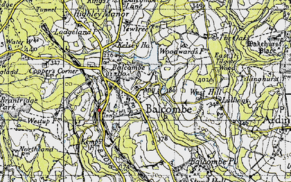 Old map of Balcombe in 1940