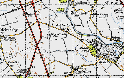 Old map of Baldersby St James in 1947