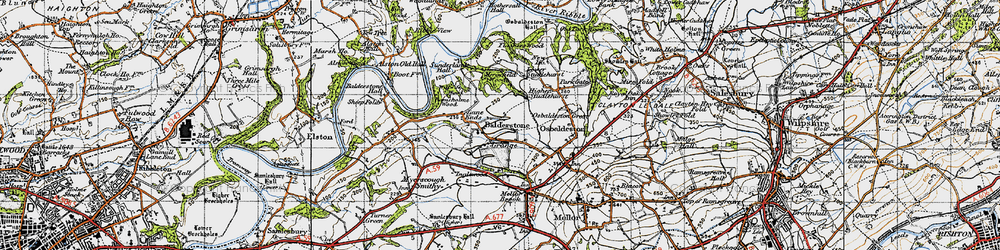 Old map of Willwife Wood in 1947