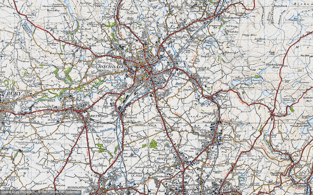 Old Map of Balderstone, 1947 in 1947