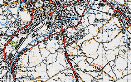 Old map of Balderstone in 1947