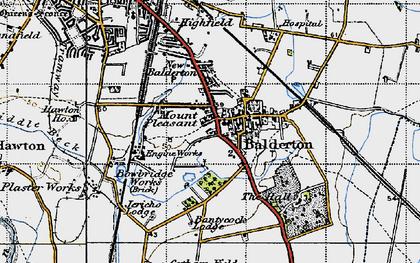 Old map of Balderton in 1946