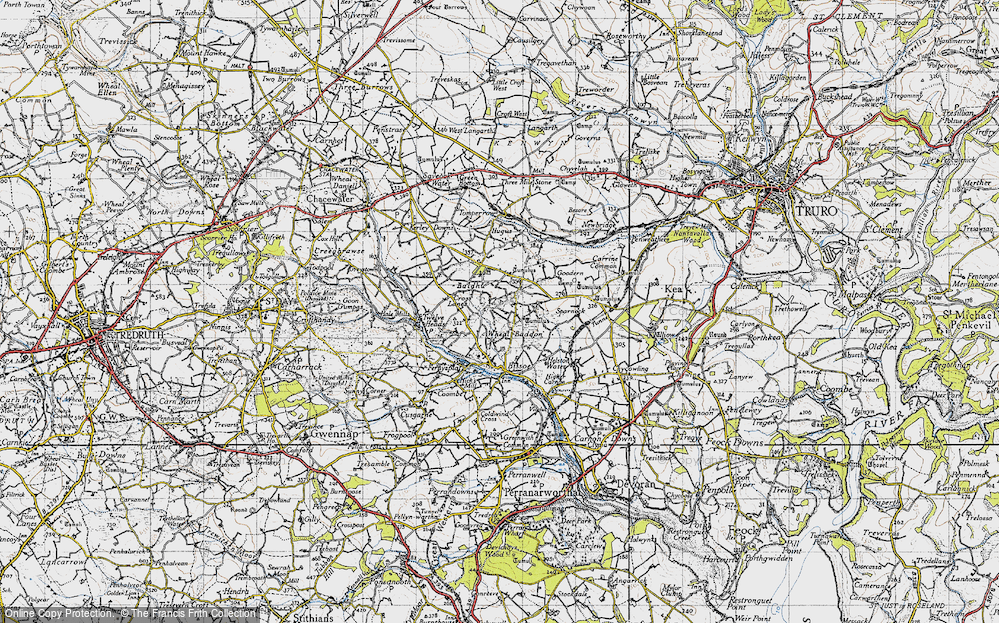 Old Map of Baldhu, 1946 in 1946
