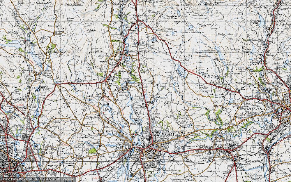 Old Map of Baldingstone, 1947 in 1947