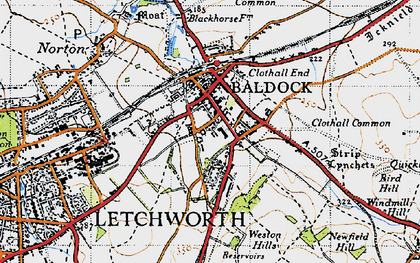 Old map of Baldock in 1946