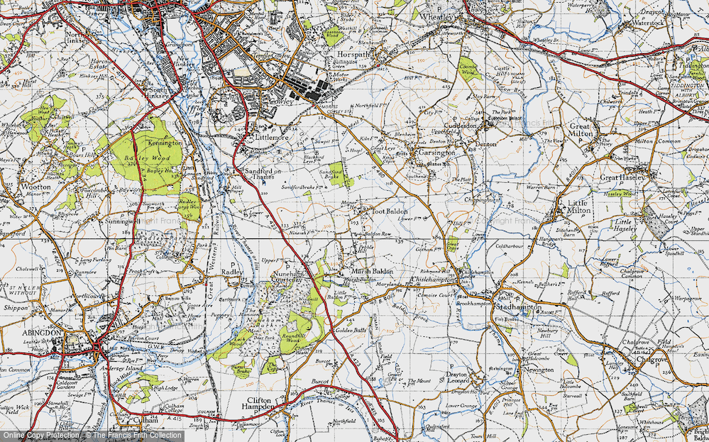 Old Map of Baldon Row, 1947 in 1947