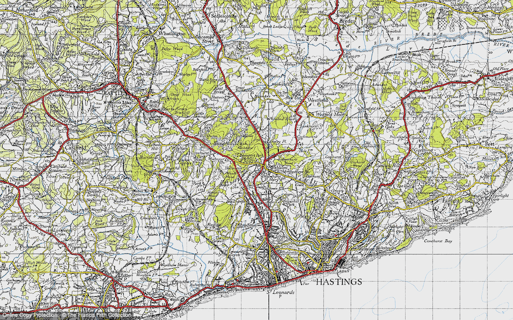 Old Map of Baldslow, 1940 in 1940