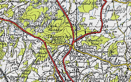 Old map of Baldslow in 1940