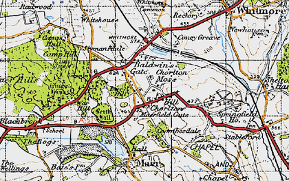 Old map of Baldwin's Gate in 1946