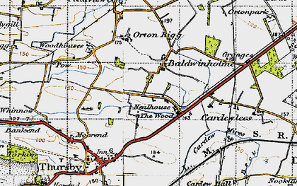 Old map of Baldwinholme in 1947